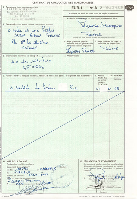 exemple de document eur 1