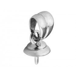 Moorea - Bélière Or Blanc 18K pour Perle de Tahiti