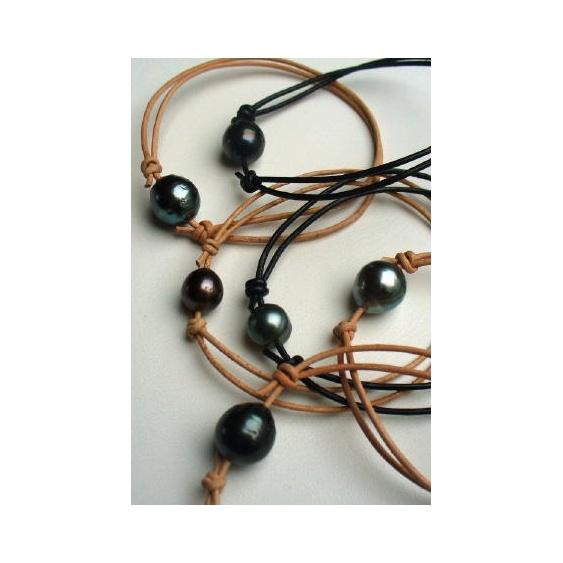 Montage Bracelet sur Cuir ou Coton Ciré Noir