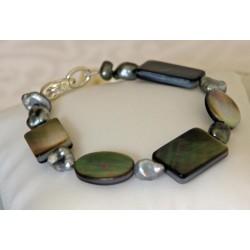 Manava - Bracelet en Nacres et Keshis de Tahiti