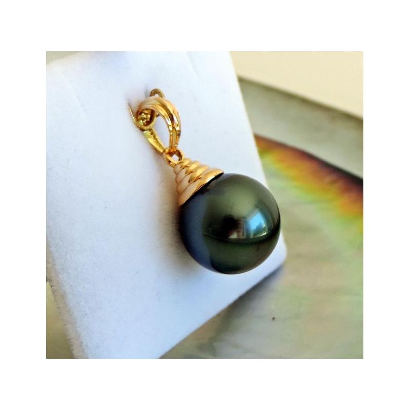 Pendentif perle et or jaune