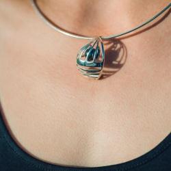 Collection Vents d'Ouest - Le Spi - Pendentif Argent et Perle de Tahiti