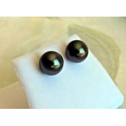 Irrésistibles - Boucles d'Oreilles Or Blanc et Perles de Tahiti