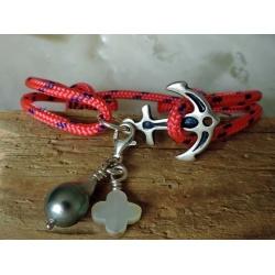 Ancre - Bracelet Véritable Perle de Tahiti