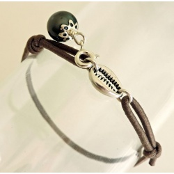 Coquillage - Bracelet Véritable Perle de Tahiti
