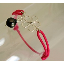Fleur - Bracelet Véritable Perle de Tahiti