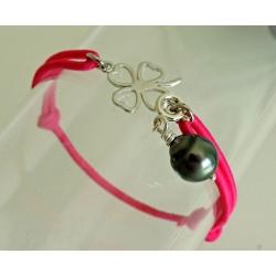 Trèfle ! - Bracelet Véritable Perle de Tahiti