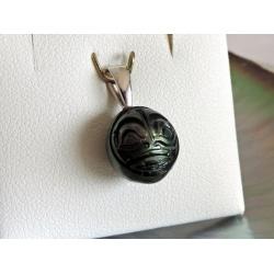 Arii - Pendentif en Argent Rhodié et Perle de Tahiti Gravée