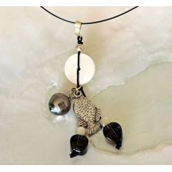 Emiri - Collier Câble et Véritable Perle de Tahiti