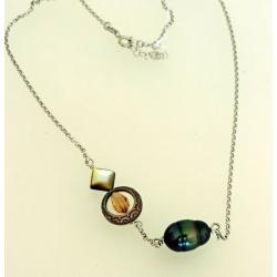 Eeva - Collier Argent et Véritable Perle de Tahiti