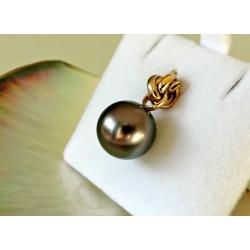 Rosée du Matin - Pendentif 3 Ors et Perle de Tahiti