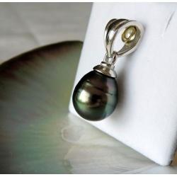 Anirau - Pendentif Argent Rhodié et Perle de Tahiti