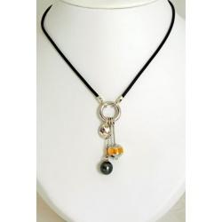 Collection Trésors de l'Océan - Bouée et Galet - Collier Perle de Tahiti