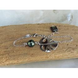 Evana - Bracelet Argent et Véritable Perle de Tahiti
