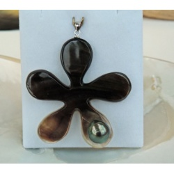 Eeva - Collier en Nacre et Perle de Tahiti