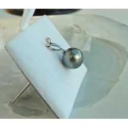 Belle de Jour  - Pendentif Or Blanc 18 carats et Véritable Perle de Tahiti