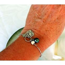 Hinarani - Bracelet Argent Rhodié et Véritable Perle de Tahiti