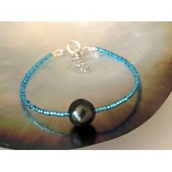 Tupai - Bracelet en Véritable Perle de Tahiti