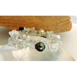 Vaitia - Bracelet en Véritable Perle de Tahiti