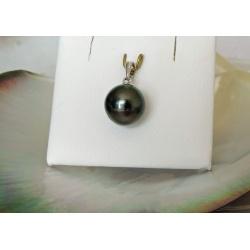 Amanu - Pendentif Argent Rhodié et Perle de Tahiti