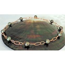 Mataiva- Collier Argent rosé et Perle de Tahiti - Ô Perles du Paradis