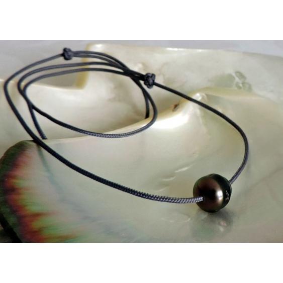 Poerava - Collier avec une Véritable Perle de Tahiti