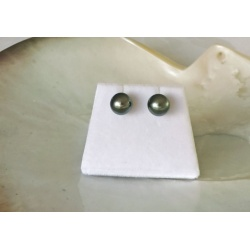 Des Perles de Lune - BO Or Jaune 18 carats et Perles de Tahiti