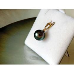 Poeiti - Pendentif Or Jaune 18 carats et Véritable Perle de Tahiti