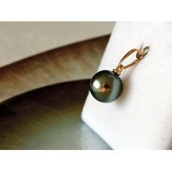 Poemana - Pendentif Or Jaune 18 carats et Véritable Perle de Tahiti