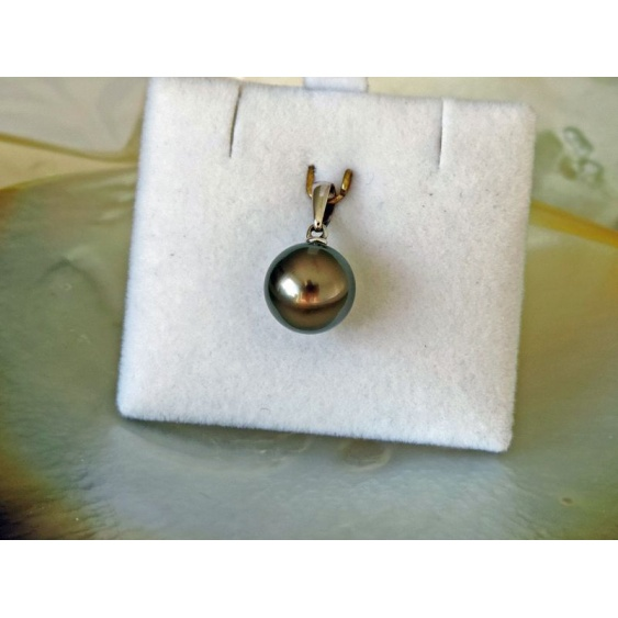 Moorea - Pendentif Or Blanc 18 carats et Perle de Tahiti