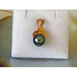 Te Moana - Pendentif Or Jaune 18 carats et Véritable Perle de Tahiti