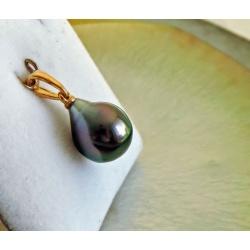 Belle de Jour - Pendentif Or Jaune et Perle de Tahiti