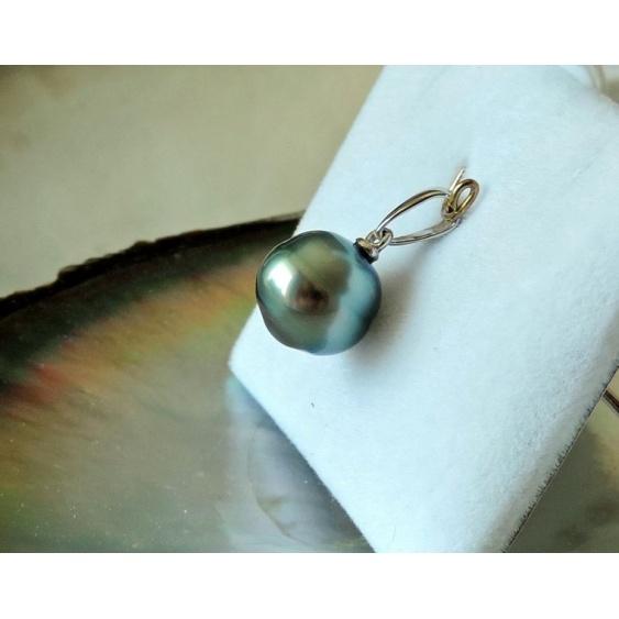 Belle de Jour - Pendentif Argent Rhodié et Perle de Tahiti
