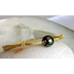 Vahia - Bracelet Véritable Perle de Tahiti