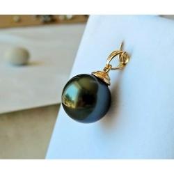 LA Sublime ! - Pendentif Or Jaune et Perle de Tahiti