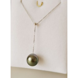 Sublissime - Collier en Or Blanc et Véritable Perle de Tahiti