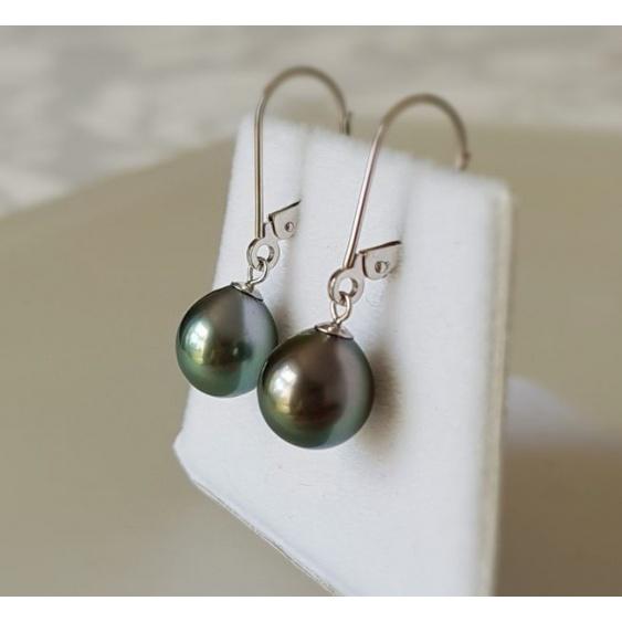Bulles de Perles - BO Or Blanc 18 carats et Véritables Perles de Tahiti