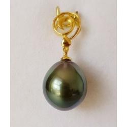 Spirale en Or - Pendentif Or 18 carats et Perle de Tahiti