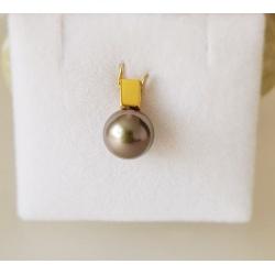 Rosée du Matin - Pendentif Or Jaune 18 carats et Véritable Perle de Tahiti