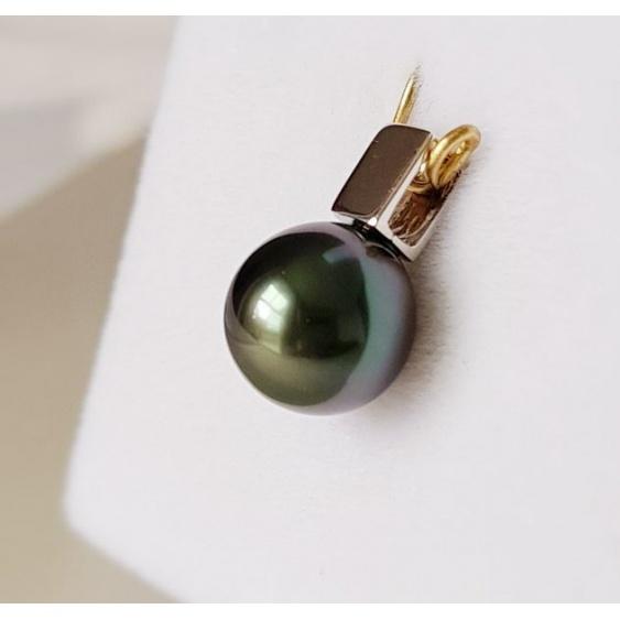 Quelle beauté ! - Pendentif Or Blanc 18 carats et Perle de Tahiti