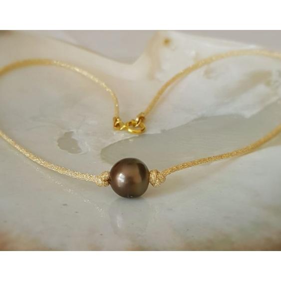 Poerava - Collier Véritable Perle de Tahiti