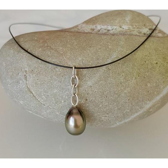 Poeiti - Collier Véritable Perle de Tahiti