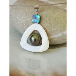 Anirau - Collier Argent et Véritable Perle de Tahiti