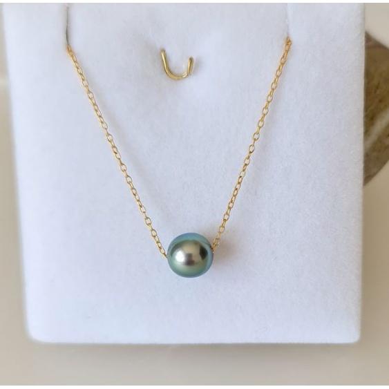 Tetiaroa - Collier Gold filled 14K et Véritable Perle de Tahiti