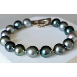 Elena - Bracelet en Véritables Perles de Tahiti