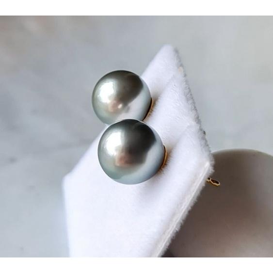 La Vie est Belle - Boucles d'Oreilles en Or Jaune et Véritables Perles de Tahiti