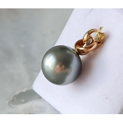 Bulle de Perle - Pendentif 3 Ors et Perle de Tahiti