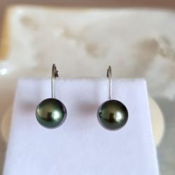 Bulles de Perles - Boucles d'Oreilles en Or Blanc et Perles de Tahiti