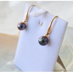 Soleils Roses - BO Or Jaune 18 carats et Perles de Tahiti