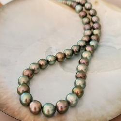 Tahiti Perles d'Ô - Collier en Véritables Perles de Tahiti